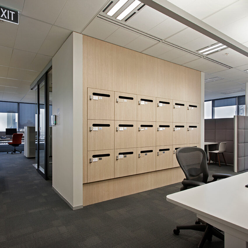 Ernst & Young office lockers