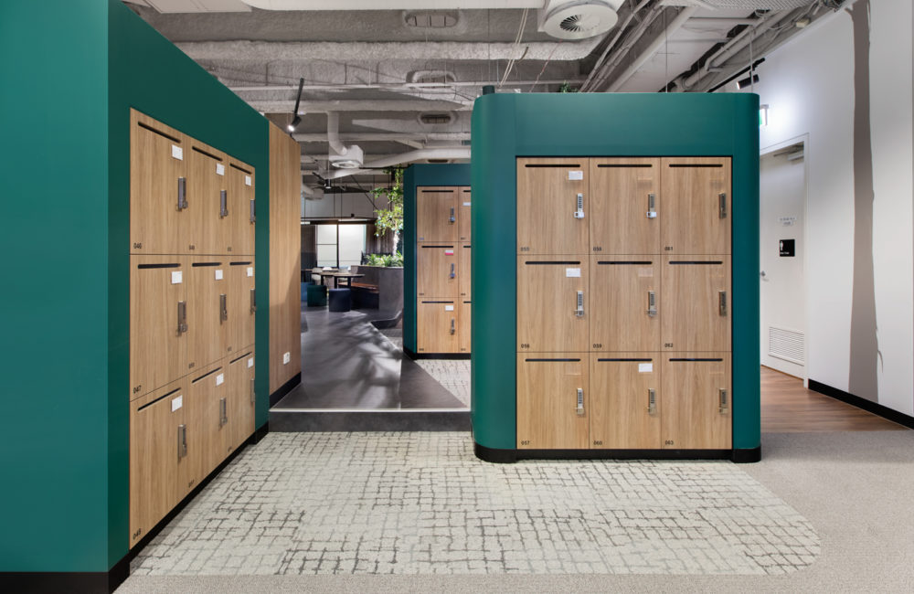 Office lockers JLL collins street lockin lockers australia 3