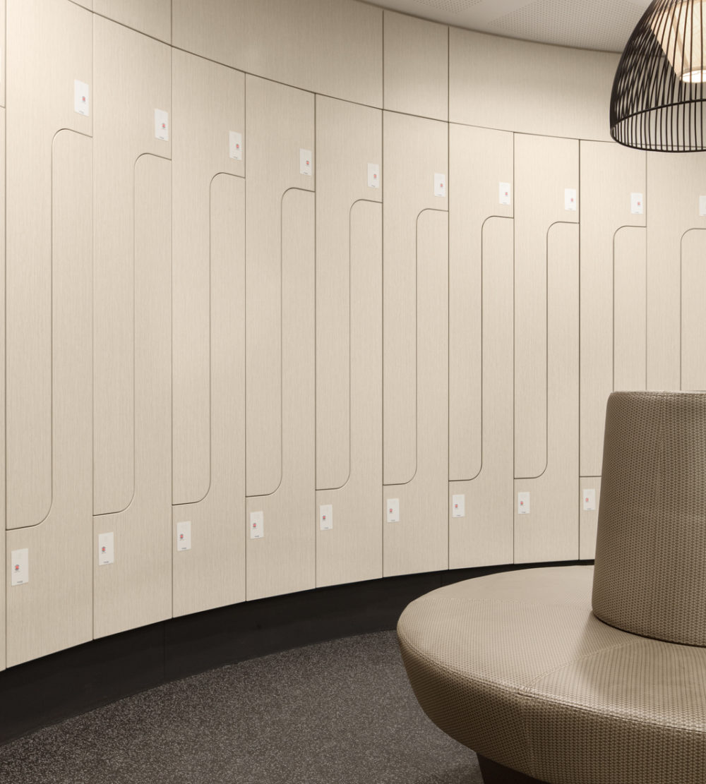 Freshwater Place end of trip facility lockers lockin lockers australia 2