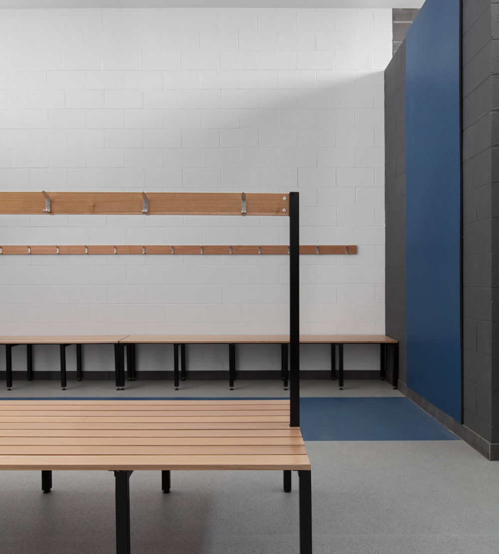 Bench seating dunlop street pavilion lockin lockers australia 4
