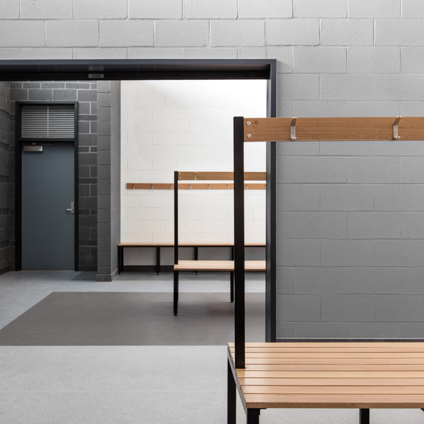 Bench seating dunlop street pavilion lockin lockers australia 2