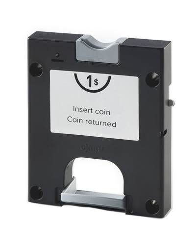 Black coin lock for lockers