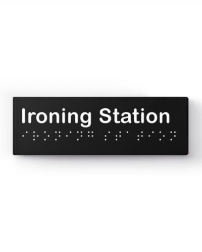 Lockin signage 13 Accessible ironing station sign no icon