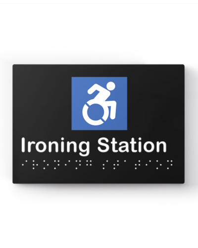 Lockin signage 9 Accessible ironing station sign