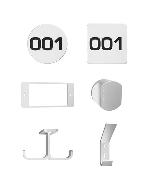 Keyless 1 lock accessories white