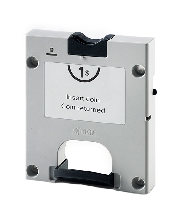 Grey coin lock