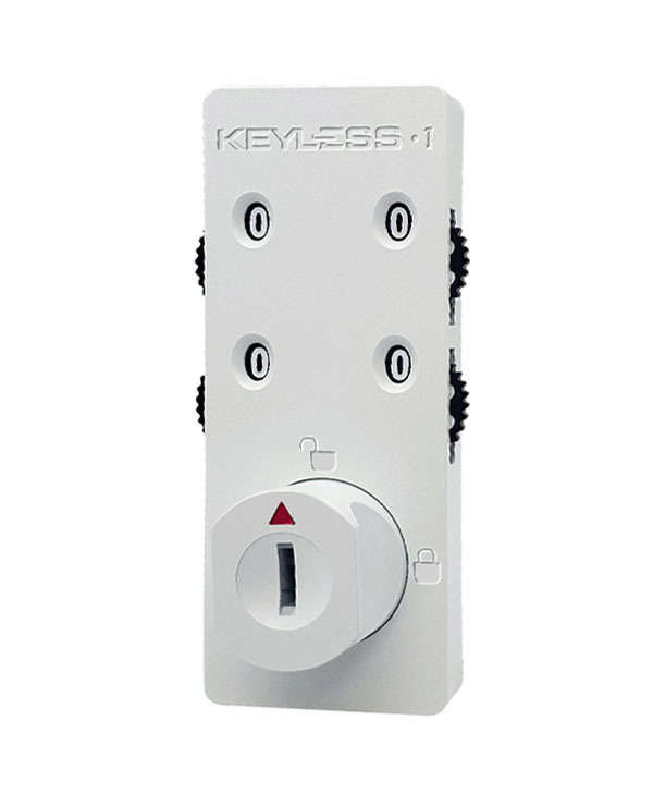 Locker locks lockin 600x740 3 keyless combination lock white
