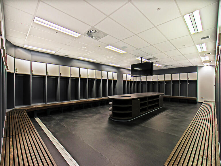 Melbourne Rebels change room lockers lockin lockers australia 1