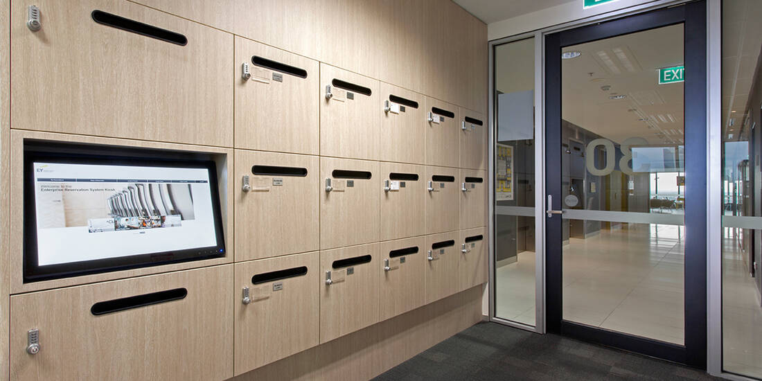 Ernst Young office lockers lockin lockers australia 2